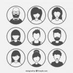 modern-pack-of-silhouette-avatars_23-2147675478